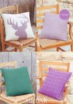 Sirdar 7755 Knitting Pattern Cushion Covers to knit in Sirdar Country Style DK