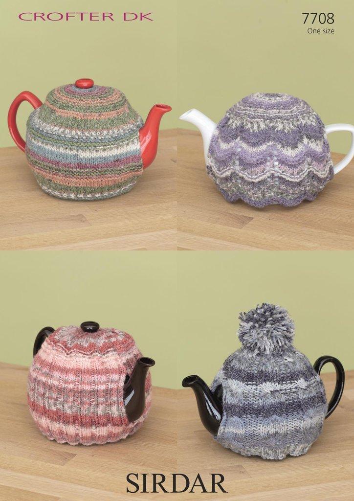 Sirdar 7708 Knitting Pattern Tea Cosies In Sirdar Crofter Dk Athenbys