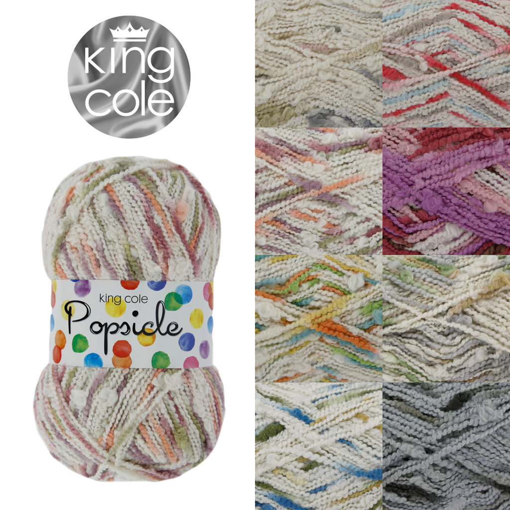 Knitting Patterns For Popsicle Wool : King Cole Popsicle Cotton Knitting Yarn 100g