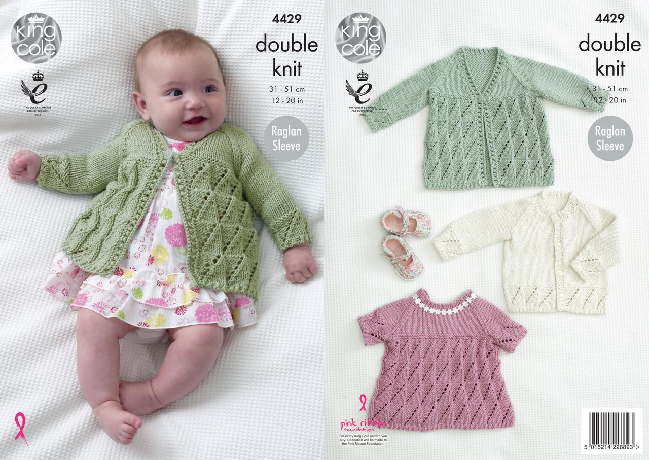 King cole 4429 knitting pattern baby matinee coat angel top and king cole 4429 knitting pattern baby matinee coat angel top and cardigan in cottonsoft dk bankloansurffo Gallery
