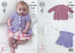 King Cole 4431 Knitting Pattern Baby Blanket, Matinee Coats and Cardigan in Cottonsoft DK