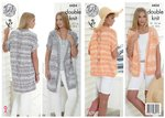 King Cole 4454 Knitting Pattern Ladies Waistcoats to knit in Vogue DK