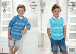 King Cole 4465 Knitting Pattern Boys Sweater and Tank Top to knit in Vogue DK