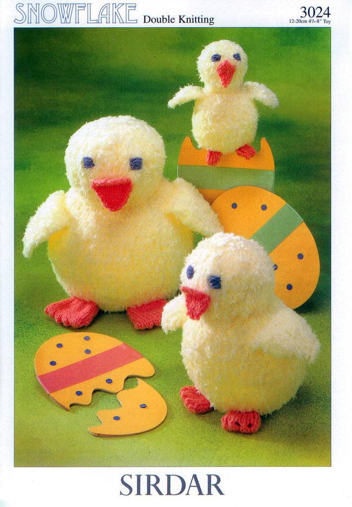 Knitting Easter Chicks : Sirdar knitting pattern easter chicks to knit in