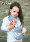 Wendy 5849 Knitting Pattern Animal Hot Water Bottle Cover in Merino Chunky