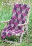 Wendy 5958 Crochet Pattern Cube Throw and Cushion Cover in Aran with Wool