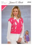 James C Brett JB360 Crochet Pattern Ladies Waistcoat in Noodles Chunky