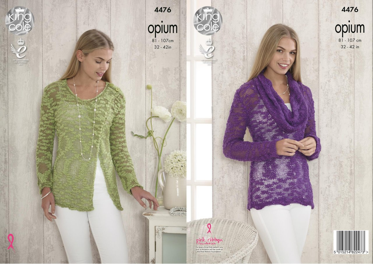Knitting Pattern King Cole : King Cole 4476 Knitting Pattern Ladies Sweater in Opium ...
