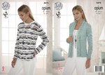 King Cole 4475 Knitting Pattern Ladies Cardigan and Sweater in Opium