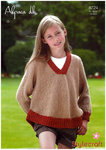 Stylecraft 8724 Knitting Pattern Childrens Girls Sweater in Alpaca DK