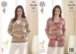 King Cole 4544 Knitting Pattern Ladies Cardigan and Sweater Drifter DK
