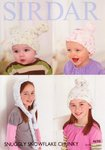 Sirdar 4698 Knitting Pattern Childrens Girls Boys Hats in Snuggly Snowflake Chunky