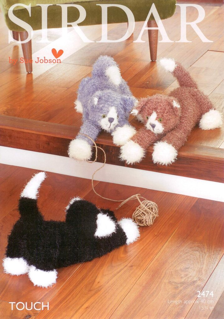 Sue Jobson Knitting Patterns : Sirdar knitting pattern toy cats to knit in