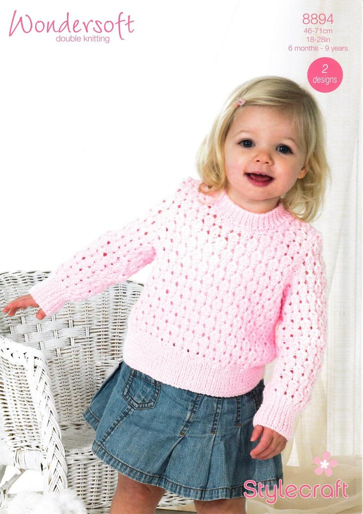 187fbed4c Stylecraft 8894 Knitting Pattern Babies Childrens Girls Cardigan ...