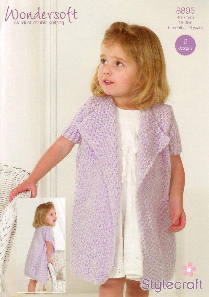 Stylecraft 8895 Knitting Pattern Babies Childrens Girls Cardigans in ...