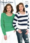 Stylecraft 8908 Knitting Pattern Ladies Sweaters Classique Cotton DK
