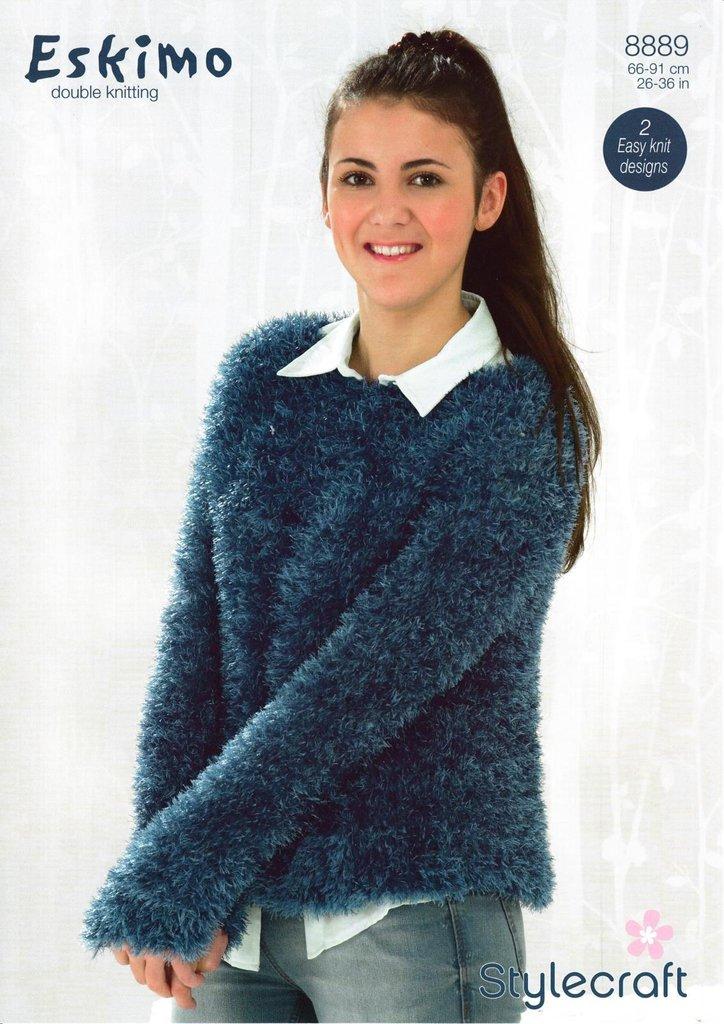 Stylecraft 8889 Knitting Pattern Girls Ladies Sweater In Stylecraft