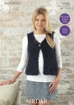Sirdar 7782 Knitting Pattern Womens Easy Knit Gilet in Sirdar Touch