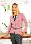 Stylecraft 8866 Knitting Pattern Ladies Cardigan in Life 4 Ply