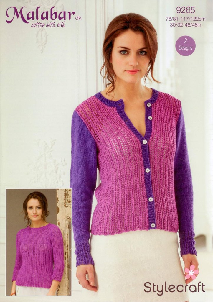 Stylecraft 9265 Knitting Pattern Ladies Cardigan and Sweater in Malabar DK - ...