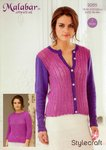 Stylecraft 9265 Knitting Pattern Ladies Cardigan and Sweater in Malabar DK