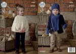 King Cole 4560 Knitting Pattern Childrens Cape Scarf Hat Mittens  in Fashion Aran
