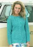 Wendy 5767 Knitting Pattern Mesh and Cable Sweater in Wendy Supreme Cotton DK