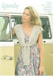 Wendy 5765 Knitting Pattern Ladies Tie Front Shrug in Supreme Cotton 4 Ply