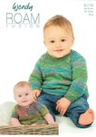 Wendy 5779 Knitting Pattern Baby Sweater and Button Through Tunic in Roam Fusion 4Ply