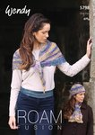 Wendy 5798 Knitting Pattern Shawl, Hat and Cravat in Wendy Roam Fusion 4 ply