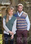 Wendy 5794 Knitting Pattern Tank Top & Waistcoat in Wendy Roam & Roam Fusion 4 ply