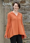 Wendy 5807 Knitting Pattern Ladies Handkerchief Hem Sweater in Wendy Merino 4 ply