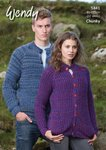 Wendy 5841 Knitting Pattern Unisex Cardigan in Festival Chunky