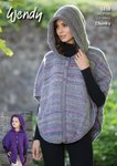 Wendy 5838 Kntting Pattern Childresn Adult Hooded Cape in Festival Chunky