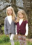 Wendy 5832 Knitting Pattern Childrens Jacket and Waistcoat in Serenity Chunky
