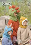 Wendy 5830 Knitting Pattern Dinosaur Hoods in Wendy Serenity Chunky
