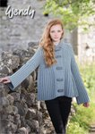 Wendy 5862 Knitting Pattern Ladies Flared Ribbed Jacket in Aran with Wool