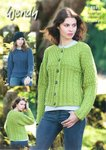 Wendy 5845 Knitting Pattern Ladies Boxy Cable Jacket and Sweater in Merino Chunky