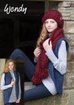 Wendy 5860 Knitting Pattern Ladies Bolero, Cabled Hat and Scarf in Serenity Super Chunky