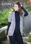 Wendy 5843 Knitting Pattern Ladies Short Sleeved Jacket and Gilet in Wendy Festival Chunky