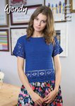 Wendy 5887 Crochet Pattern Top with Back Fastening in Wendy Supreme Cotton 4 Ply