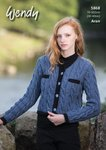 Wendy 5868 Knitting Pattern Ladies Jacket in Aran with Wool