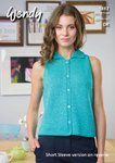 Wendy 5882 Knitting Pattern Sleeveless and Short Sleeve Top in Wendy Supreme Luxury Cotton DK