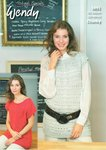 Wendy 5891 Knitting Pattern Ladies Open Stitch Tunic and Sweater in Supreme Luxury Cotton Chunky