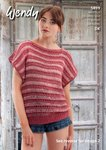 Wendy 5899 Knitting Pattern Ladies Stripe Top and Mesh Sleeveless Top in Supreme Cotton Silk DK