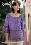 Wendy 5893 Knitting Pattern Ladies Flared Top and Tunic in Wendy Supreme Cotton Silk DK