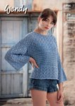 Wendy 5896 Knitting Pattern Ladies Boxy T-Shaped Sweater in Wendy Supreme Cotton Silk DK