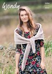 Wendy 5954 Knitting Pattern Ladies Shawl and Wrap in Aran with Wool
