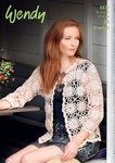 Wendy 5977 Crochet Pattern Ladies Motif Cardigan in Supreme Luxury Cotton Silk DK