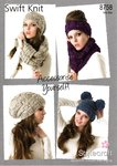 Stylecraft 8758 Knitting Pattern Ladies Hat Headband and Snood in Swift Knit Super Chunky